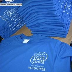 White - Royal Blue T-shirt (Downey, CA)