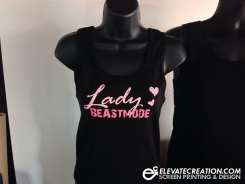 Artwork by Elevate Creation. Custom two color front print on a Bella Tank.