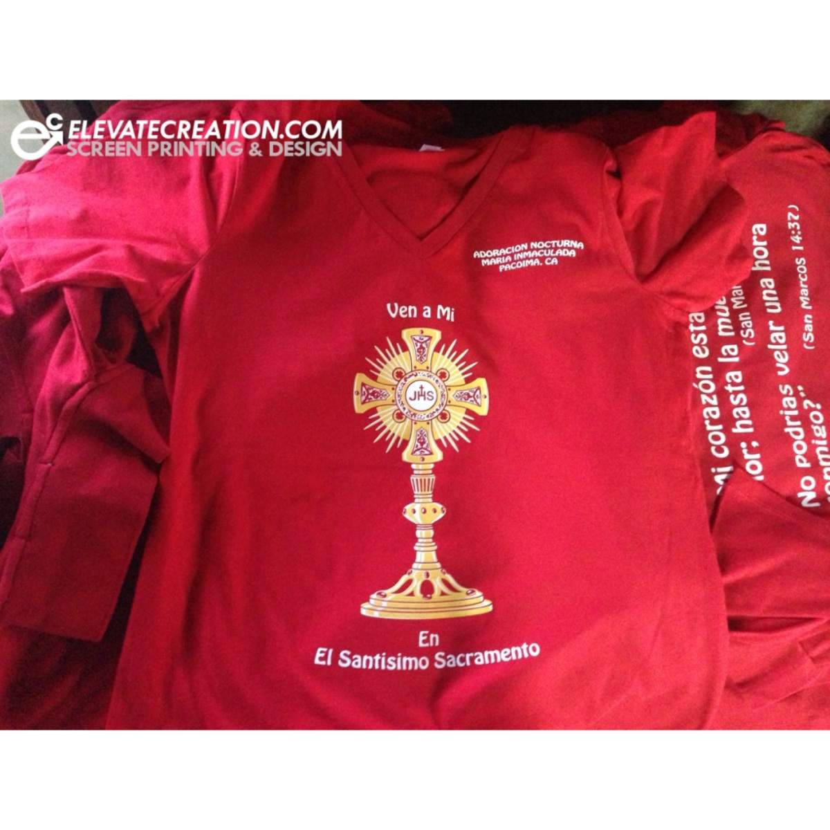 red-bella-v-neck-t-shirt-church-pacoima-screen-printing